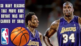 The facts that prove Kobe Bryant wasn't carried by Shaq
