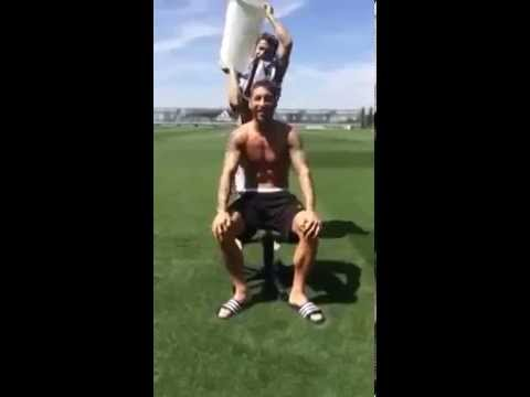 Sergio Ramos Ice Bucket Challenge - Nominates Antonio Banderas,Torres and Ancelotti