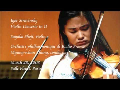 Stravinsky: Violin Concerto in D - Shoji / Chung / Orchestre philharmonique de Radio France