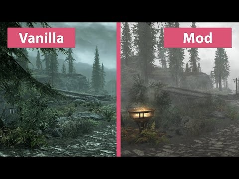 Skyrim Special Edition – 4K UHD Visual Mod Overhaul vs. Vanilla Graphics Comparison