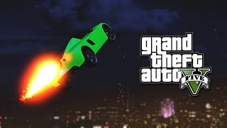 OVAJ AUTO MOZE DA LETI ! Grand Theft Auto V - Zezanje po Gradu w/Cale,Sane