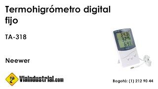 Termohigrómetro digital fijo TA-318