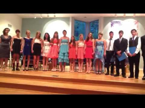 "Emerson Waldorf School 8th grade singing ""Wild Mountain Tim - 06/11/2013"