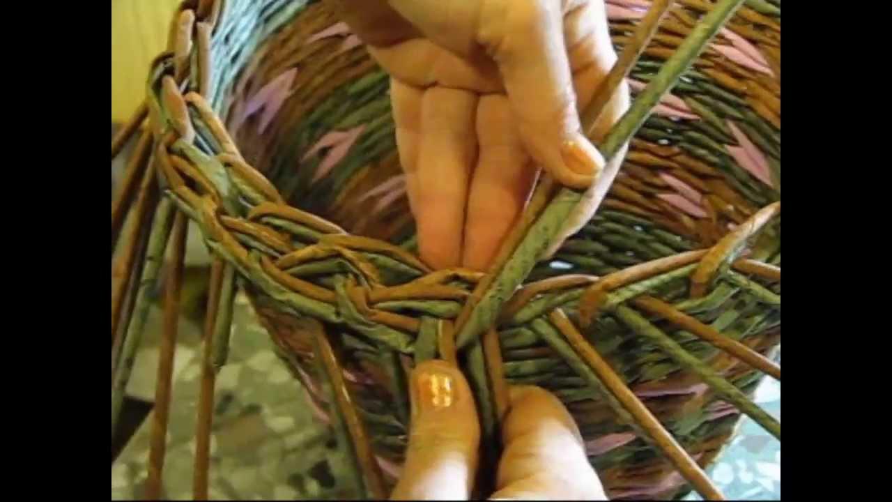 Basket Weaving Edging : Basket weaving newspaper how to make the edging part