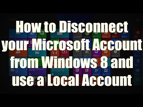 HOW-TO: Disconnect your Microsoft Account from Windows 8 or 8.1 and use a Local Account