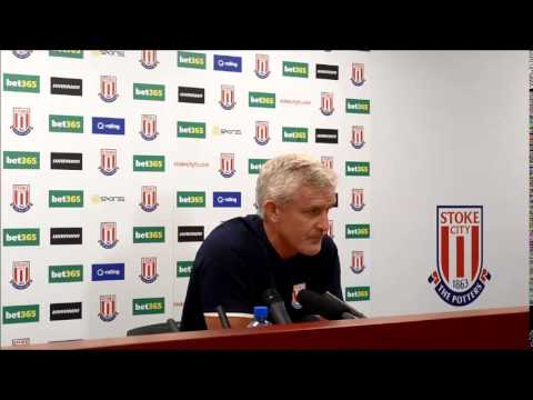 Mark Hughes's press conference ahead of  Stoke City's Aston Villa game