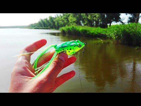 рыбалка щука силиконовая лягушка