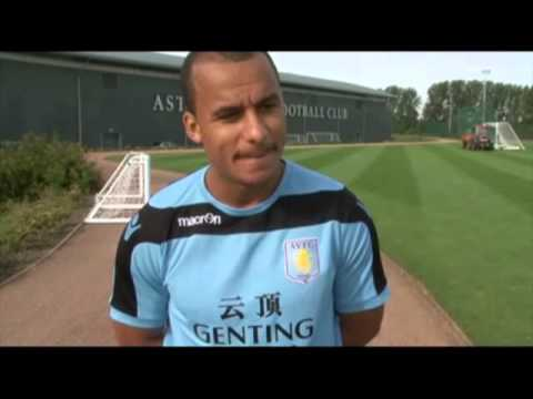 Gabriel Agbonlahor Gets attacked by a fly