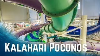 All Big Waterslides at Kalahari Resort Pocono Mountains, Pennsylvania (2017 Edition)