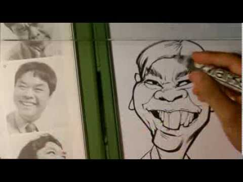 How to Draw a Caricature - Asian Male