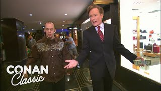 Conan Spends $400 At Rockefeller Center