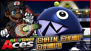 """""""I'M THE CHAIN CHOMP CHAMP!""""   Mario Tennis Aces w/ @PKSparkxx! - Chain Chomp Gameplay"""