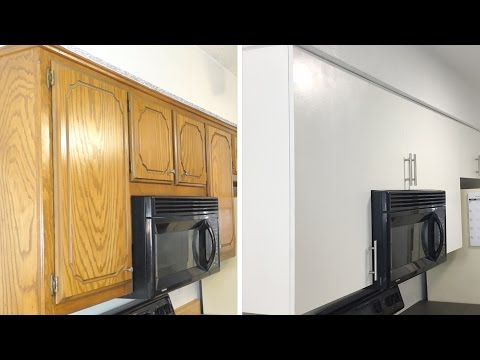 How To: DIY Modern Kitchen Cabinet Remodel | Update Cabinets on a Budget