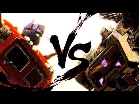 Transformers G1 Optimus Prime VS. Megatron (Machinima)