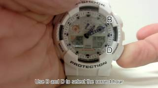 GA-100 Adjusting Settings Including Daylight Saving Time