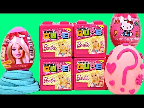 New Barbie Qubes Surprise Lollipop Eggs Play Doh Hello Kitty My Little Pony Cubos De Huevo Sorpresa video