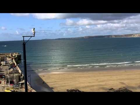 Newquay Beach and Harbour, Cornwall