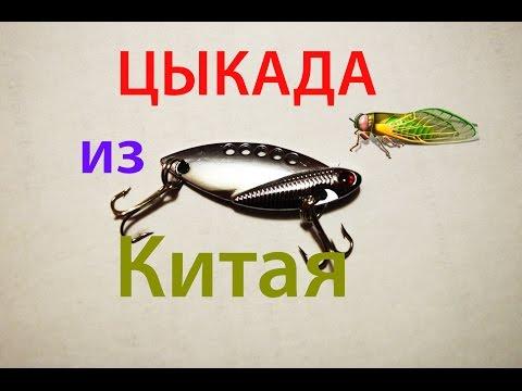 цикада блесна видео рыбалка