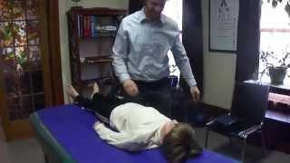 Ithaca New York Chiropractor demonstrates adjustment