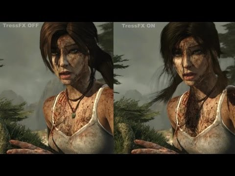 Tomb Raider TressFX Graphics Comparison PC YouTube