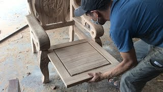 Woodworking Skills Of Carpenters // Making And Assembly King Chair Is Simple, Extremely Beautiful