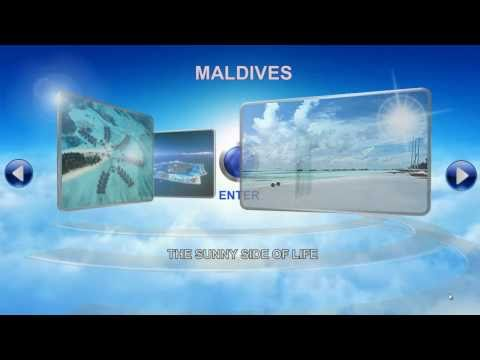 3D Interactive Presentation - Maldives Scenery
