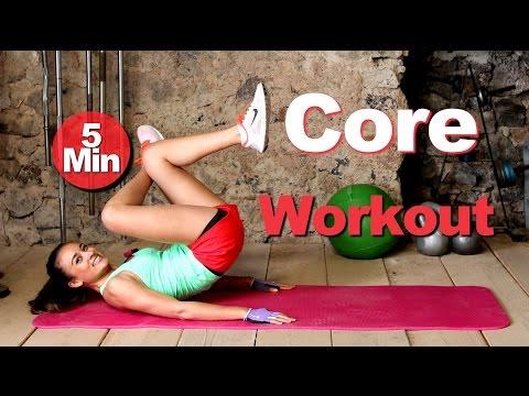 5 Min Bauchmuskeltraining - Übungen für den Bauch - Core Workout - Sixpack für Frauen