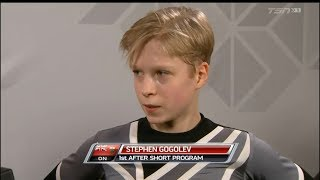 2019 Canadian Tire National Skating Championships Stephen Gogolev - SP TSN analysis & interview