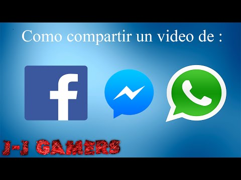 Como compartir un video de Facebook o Messenger a Whatsapp