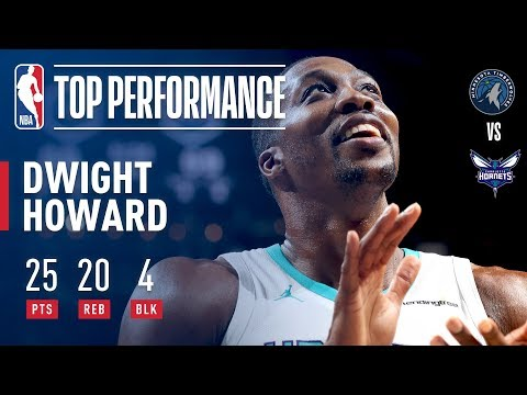 Dwight Howard's 25 and 20 Leads Hornets Over T-Wolves | November 20, 2017