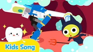 Brush Your Teeth | Kids songs | LittleTooni songs with Robot Trains