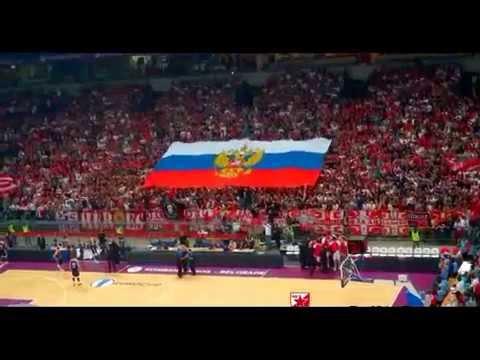 Сербы с флагом Росси на матче с У краиной