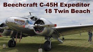 Beechcraft C-45H Expeditor / 18 Twin Beach, Airshow Chotebor 2017