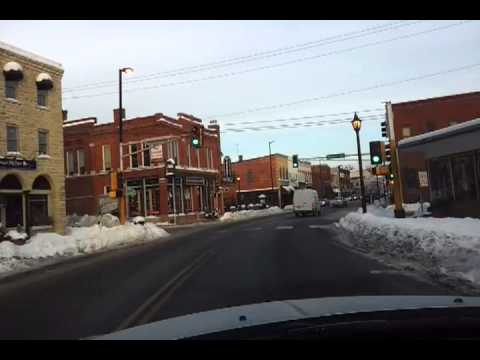 Driving Main Street Stillwater MN Dec 2012