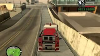 Gta SA-Que faire avec un camion de pompier ?