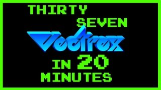 Vectrex games compilation - 37 games in 20 minutes