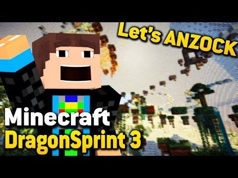 Let's Anzock: DRAGONSPRINT 3 - Minecraft Jump 'n Run Map