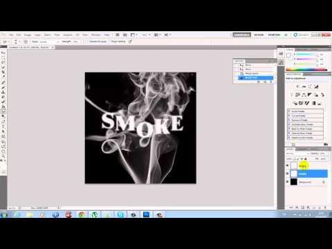 (Работа с текстом) Создание текста из дыма