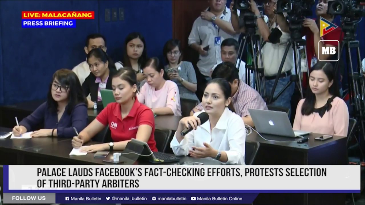 Palace lauds Facebook's fact checking efforts, protests selection of third party arbiters