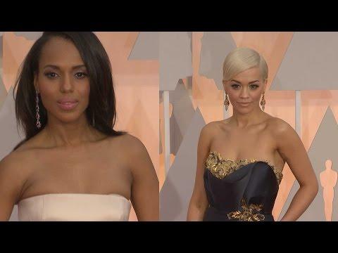 Oscars Fashion:  Kerry Washington and Rita Ora