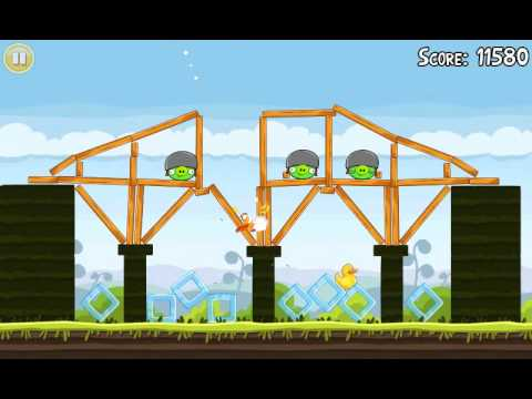 Official Angry Birds walkthrough for theme 4 levels 1-5
