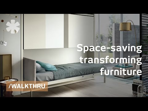 0 Space saving furniture that transforms 1 room into 2 or 3