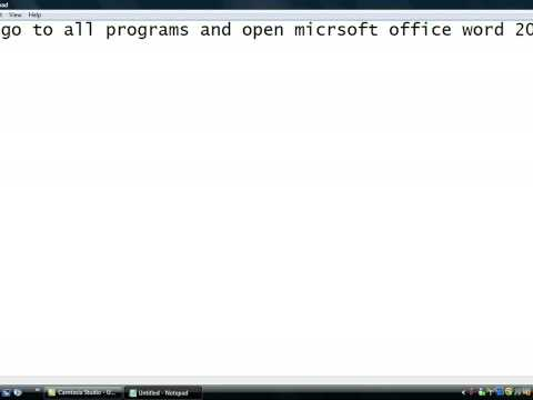 how to open microsft office 2007 (HD)