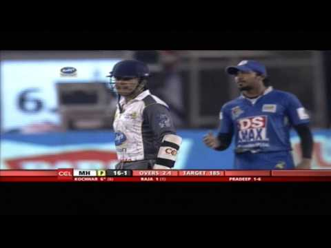 CCL4 Semi Final 2 Karnataka Bulldozers Vs Mumbai Heroes 2nd Inn Match in Hyderabad - Part1