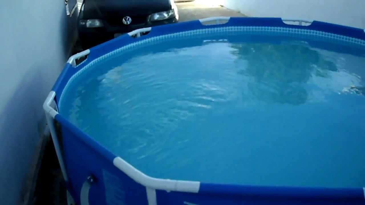 Piscina intex litros youtube for Alberca intex