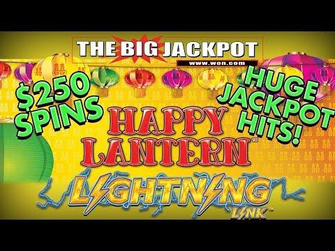 $250 SPINS ⚡I ♥️ LIGHTNING LINK HAPPY LANTERN ✦ 4 JACKPOTS!