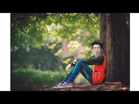 Boy under tree | photoshop manipulation tutorial 2018