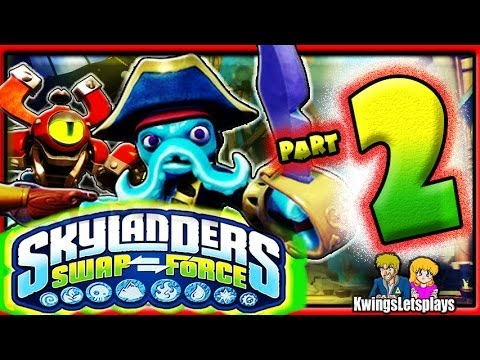 Skylanders Swap Force Wii U - Walkthrough Part 2 Cascade Glade co-op Gameplay!