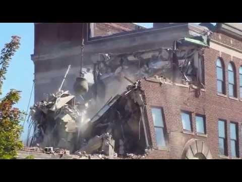 Enad Wrecking Ball Demolition - Purdue University 9 18 14 video