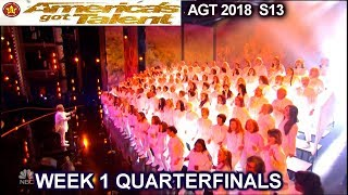 """Angel City Chorale sings """"This Is Me"""" AMAZING Quarterfinals 1 America"""
